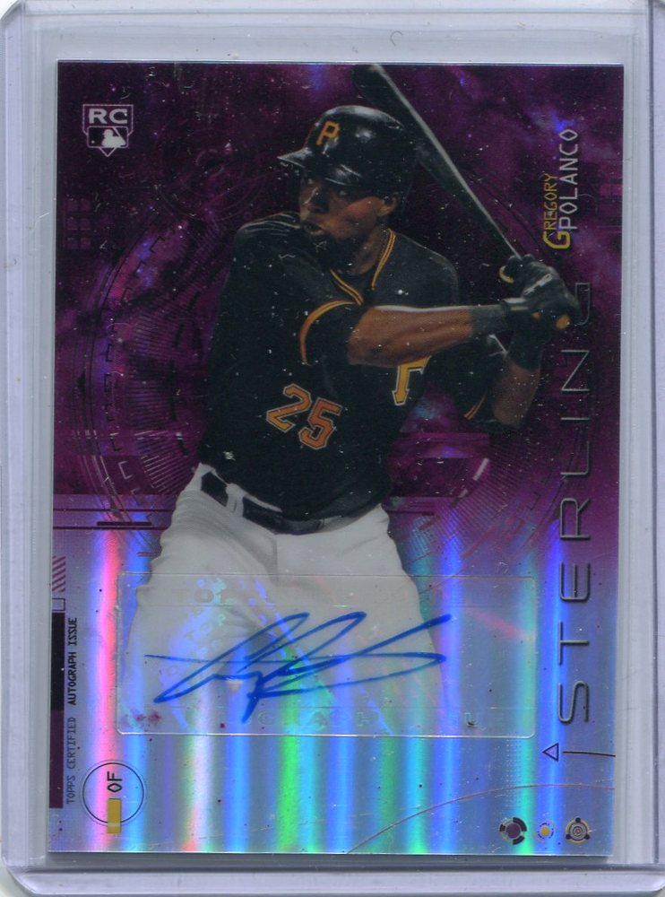 2014 Bowman Sterling Rookie Autographs Magenta Refractors Gregory Polanco 25/99