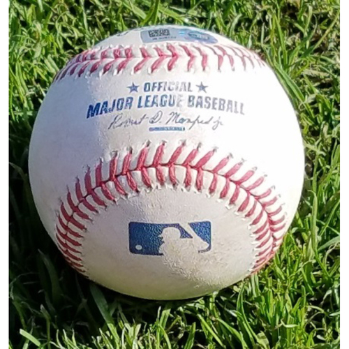 Photo of 2017 Game-Used Baseball - Jerad Eickhoff Strikeout Yoenis Cespedes (April 10)