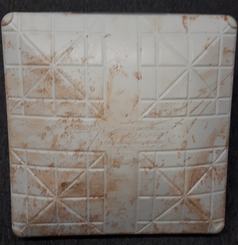 Photo of Authenticated Game Used Base (May 15 & 16, 2017 vs Atlanta Braves) - 3rd Base for Innings 1 to 3. Features a Series specific plate.