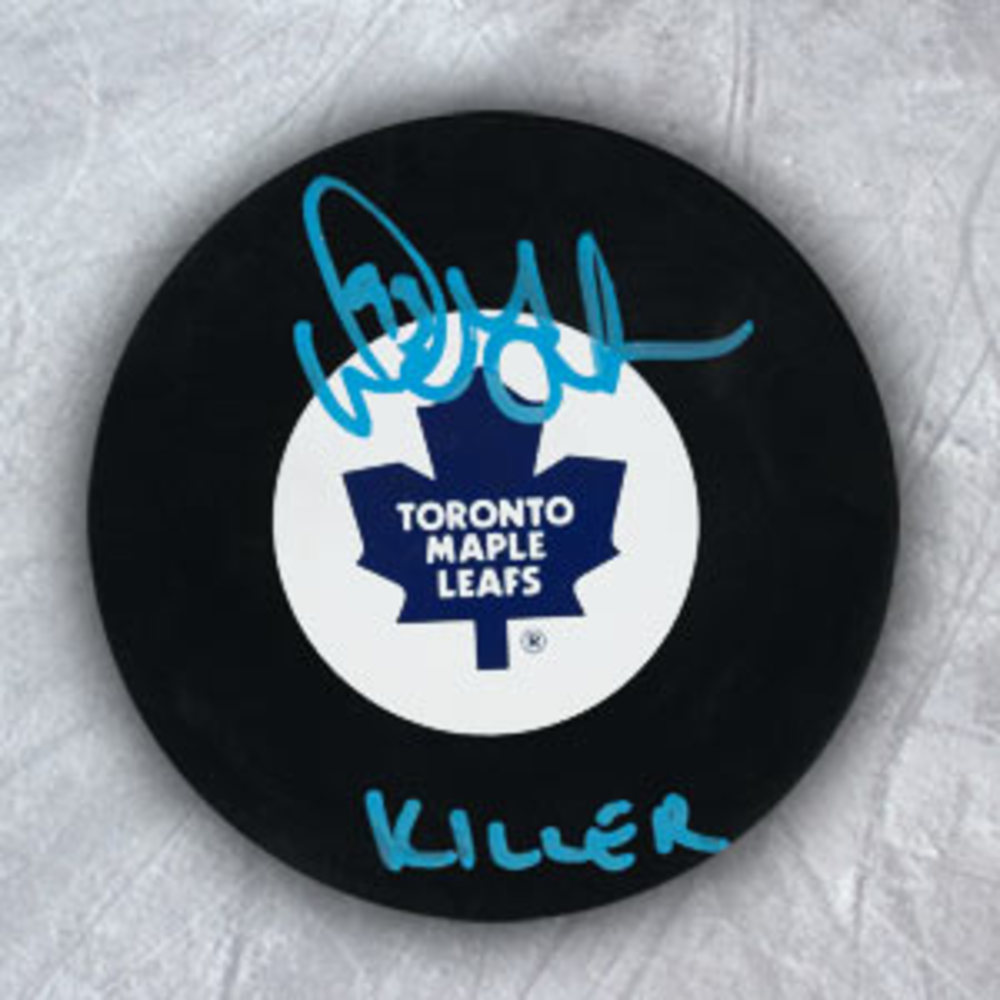 DOUG GILMOUR Toronto Maple Leafs Autographed Hockey Puck w/ KILLER Note