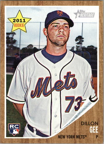 Photo of 2011 Topps Heritage #181 Dillon Gee Rookie Card -- Twins post-season
