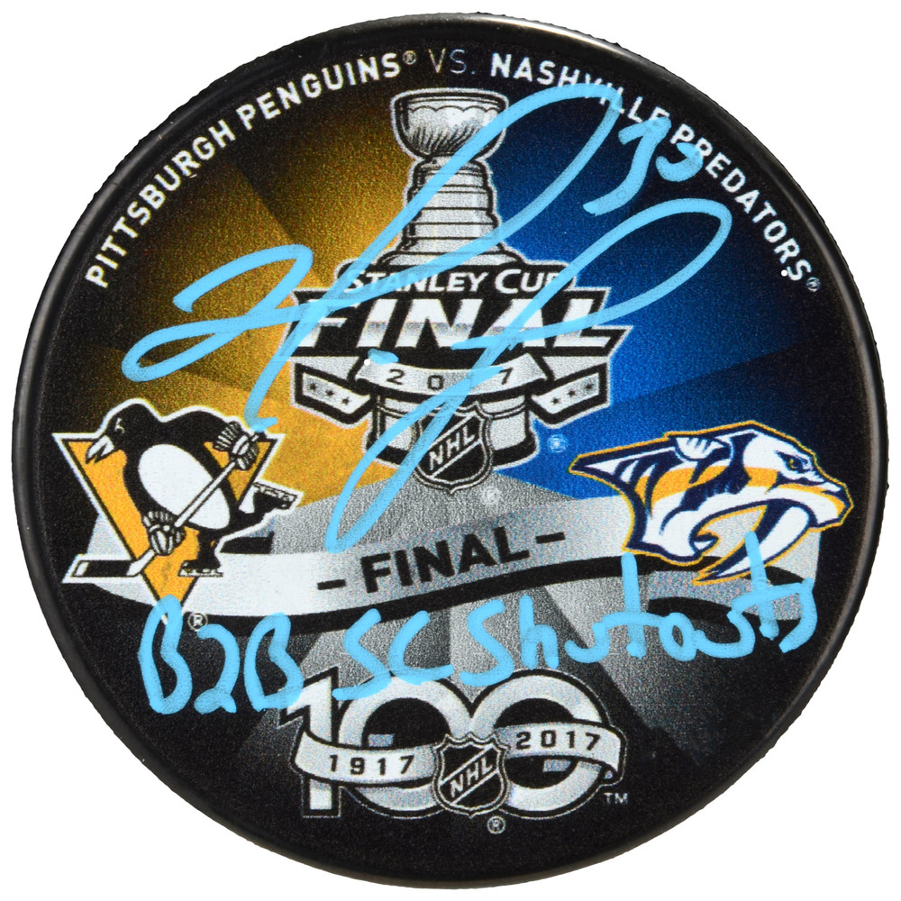 Matt Murray Pittsburgh Penguins Autographed 2017 Stanley Cup Final Match-Up Hockey Puck with Back2Back SC Shutouts Inscription - #1 In a Limited Edition of 30