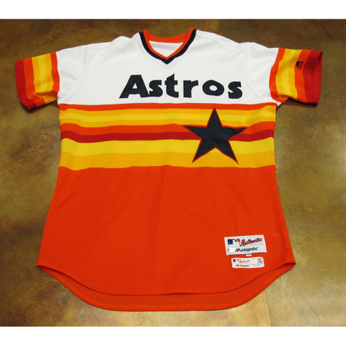 Photo of Rich Dauer Astros Game-Used TBTC 1977 Jersey/Pants/Helmet 6/24/17 Size 48