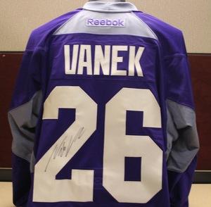 2014-15 Signed Vanek Hockey Fights Cancer Jersey