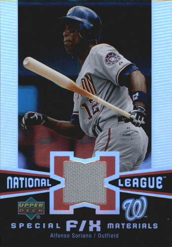 Photo of 2006 Upper Deck Special F/X Materials #AS Alfonso Soriano Jsy