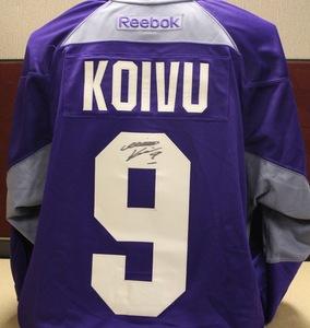 2014-15 Signed Koivu Hockey Fights Cancer Jersey