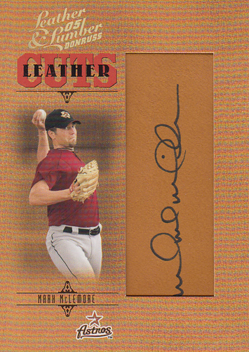 Photo of 2005 Leather and Lumber #163 Mark McLemore AU RC