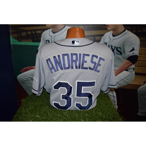 Photo of Final Away Series of 2016 Game Used Jersey: Matt Andriese