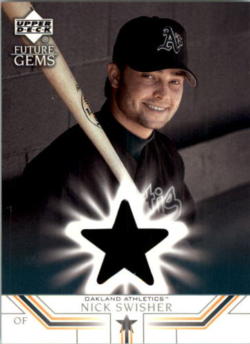 Photo of 2002 Upper Deck Prospect Premieres #61 Nick Swisher JSY XRC