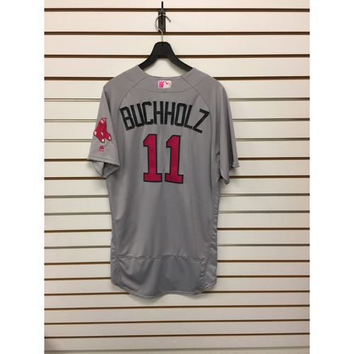Photo of Clay Buchholz Team-Issued 2016 Mother's Day Road Jersey