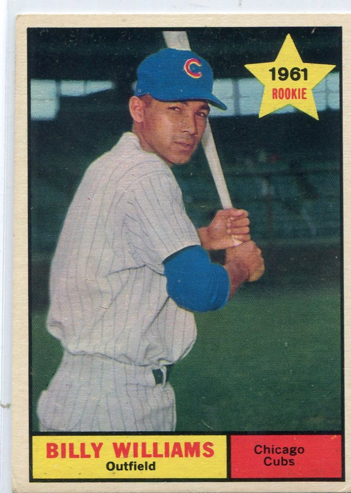 1961 Topps #141 Billy Williams Rookie Card -- Cubs Hall of Famer