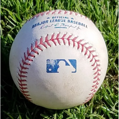 Photo of 2017 Game-Used Baseball - Brock Stassi Single (April 12)