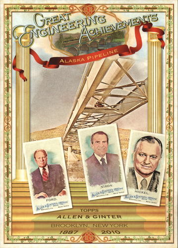 Photo of 2010 Topps Allen and Ginter Cabinets #NCCB10 Gerald R. Ford/Richard M. Nixon/Wally Hickel