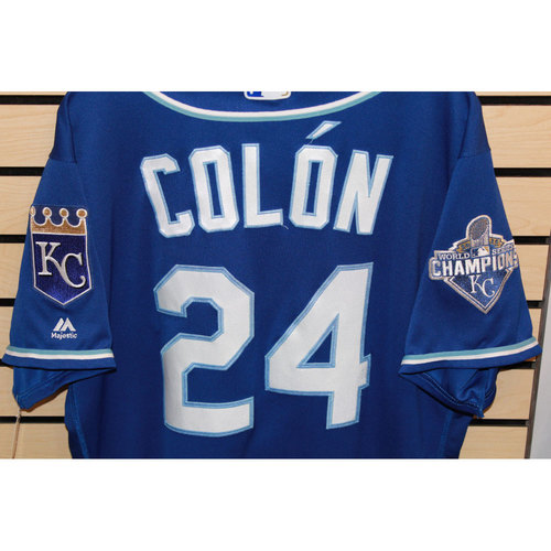 Photo of Game-Used Christian Colon Jersey (Size 48) (9/24/16 KC @ DET)