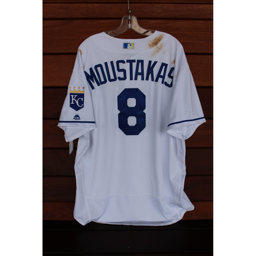 Photo of Game-Used Jersey: Mike Moustakas (Size 52 - STL at KC - 8/8/17)