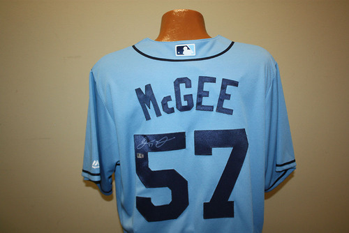 Photo of Jake McGee Autographed Columbia Jersey