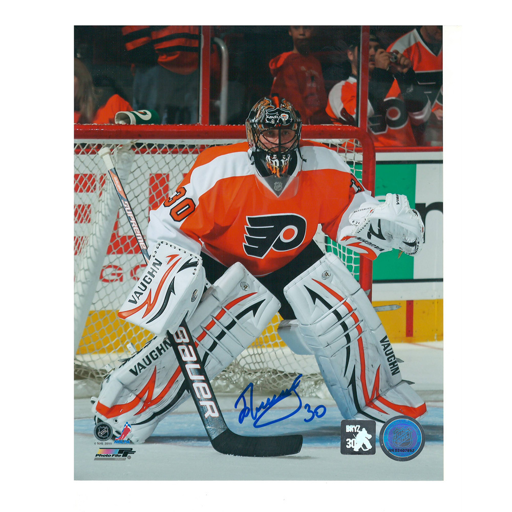 ILYA BRYZGALOV Signed Philadelphia Flyers 8 X 10 Photo - 70272