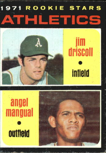 Photo of 1971 Topps #317 Rookie Stars/Jim Driscoll RC/Angel Mangual