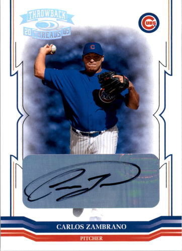 Photo of 2005 Throwback Threads Signature Marks #38 Carlos Zambrano/25