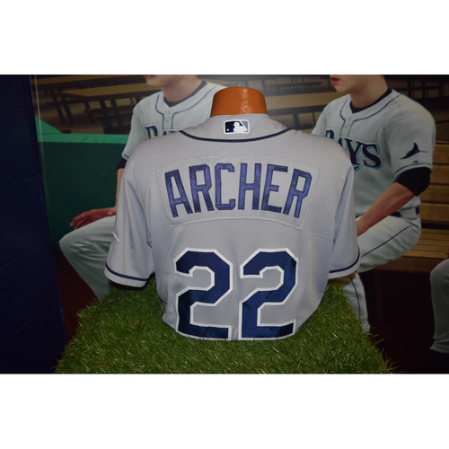 Photo of Final Away Series of 2016 Game Used Jersey: Chris Archer