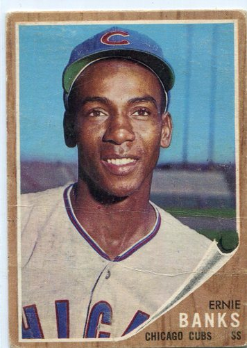 Photo of 1962 Topps #25 Ernie Banks -- Cubs Hall of Famer