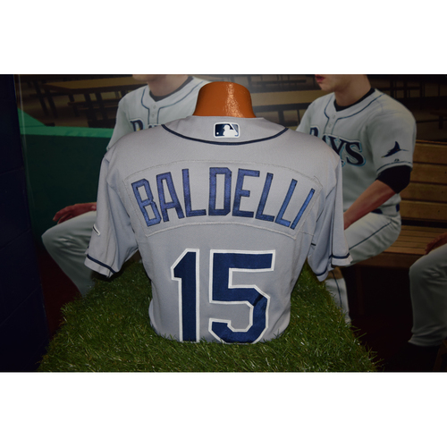 Photo of Final Away Series of 2016 Game Used Jersey: Rocco Baldelli