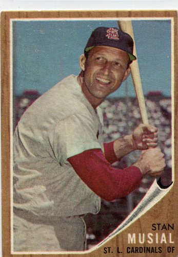 Photo of 1962 Topps #50 Stan Musial -- Cardinals Hall of Famer
