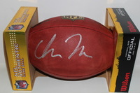 NFL - RAVENS CHRIS MOORE SIGNED AUTHENTIC FOOTBALL