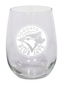 Stemless Wine Glass 17oz by The Sports Vault
