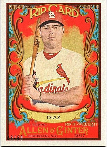 Photo of 2017 Topps Allen and Ginter Rip Card #RIP51 Aledmys Diaz 43/60 UNRIPPED