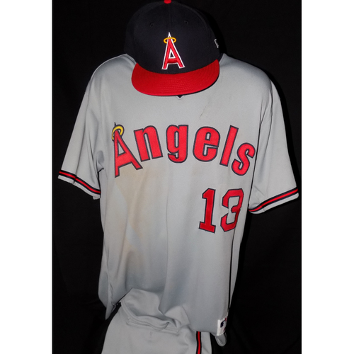 Nick Franklin Team-issued 1977 Road Grey Throwback Jersey And Game-Used Cap