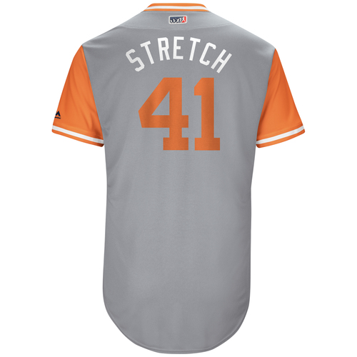"Photo of Mark ""Stretch"" Melancon San Francisco Giants Game-Used Players Weekend Jersey"