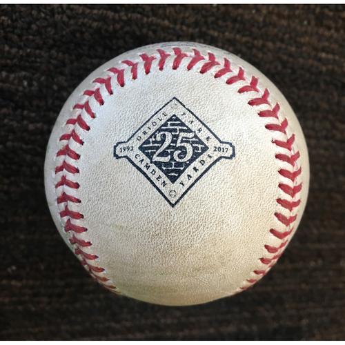 Photo of Evan Gattis- RBI Single: Game-Used
