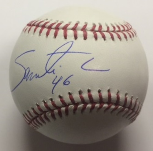 Photo of Santiago Casilla Autographed Baseball