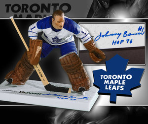 Johnny Bower Toronto Maple Leafs Autographed HOF McFarlane Figurine