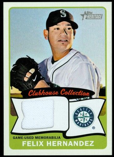 Photo of 2014 Topps Heritage Clubhouse Collection Relics #CCRFH Felix Hernandez