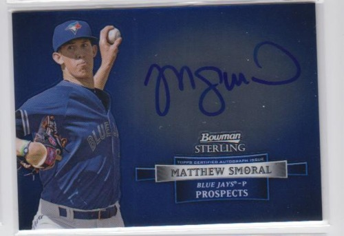 Photo of 2012 Bowman Sterling Prospect Autographs #MSM Matthew Smoral