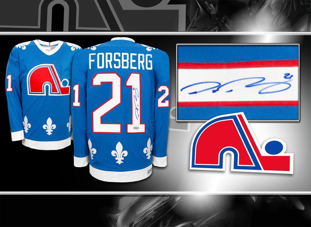 Peter Forsberg Quebec Nordiques CCM Autographed Jersey