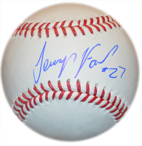Photo of Jeurys Familia - Autographed Major League Baseball