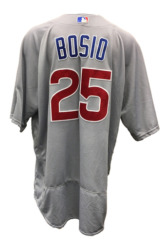Photo of Chris Bosio Game-Used Jersey -- Cubs at Reds -- 10/1/16 -- Cubs World Championship 2016 Season