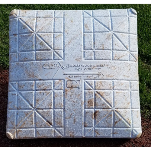Photo of 2017 Game-Used 2nd Base - Brock Stassi 1st career hit/homerun