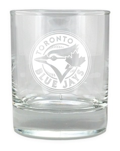 Toronto Blue Jays Etched Rocks Glass 10oz by The Sports Vault