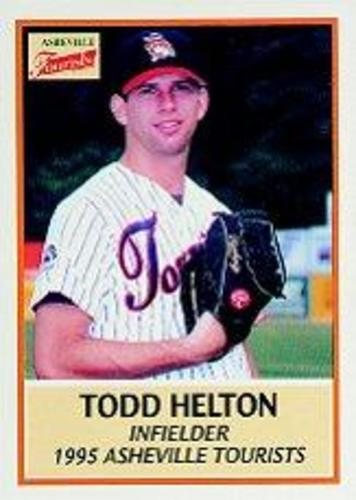 Photo of 1995 Asheville Tourists Update Team Issue #9 Todd Helton