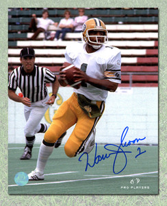 Warren Moon Edmonton Eskimos Autographed CFL Football 8x10 Photo