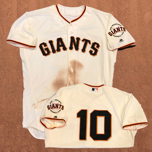 Photo of San Francisco Giants - Game-Used Jersey - Eduardo Nunez - worn on July 25th, 2017 - 1-2, 2 RBIs, 2B, 2 R, SB