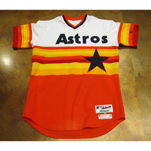 Photo of Jordan Jankowski Astros Game-Used TBTC 1977 Jersey/Cap 6/24/17 Size 46