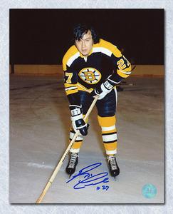 Reggie Leach Boston Bruins Autographed Rookie 8x10 Photo