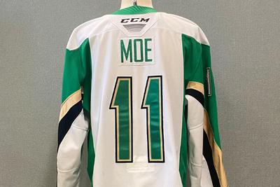 2019-20 Game Worn Spencer Moe White #11 Jersey