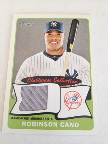 Photo of 2014 Topps Heritage Clubhouse Collection Relics #CCRRC Robinson Cano