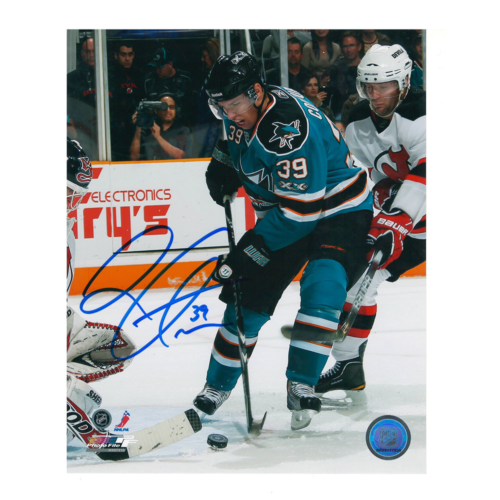 LOGAN COUTURE Signed San Jose Sharks 8 X 10 Photo - 70285